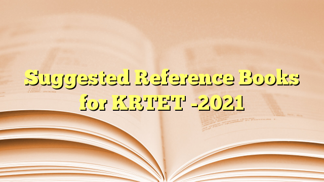 Suggested Reference Books for KRTET -2021