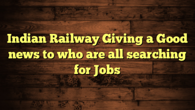 Indian Railway Giving a Good news to who are all searching for Jobs