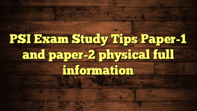 PSI Exam Study Tips Paper-1 and paper-2 physical full information