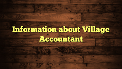 Information about Village Accountant
