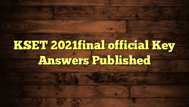 KSET 2021final official Key Answers Published