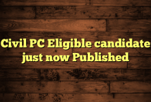Civil PC Eligible candidate just now Published