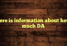 Here is information about how much DA