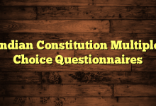 Indian Constitution Multiple Choice Questionnaires
