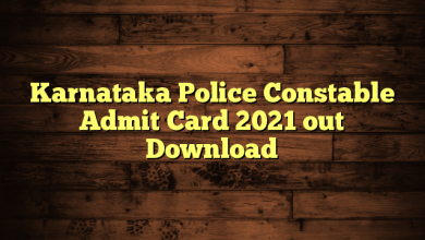 Karnataka Police Constable Admit Card 2021 out Download